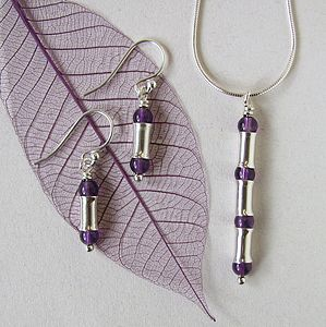 Amethyst And Silver Jewellery Set - jewellery