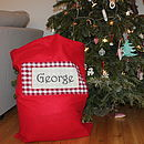 Personalised Printed And Appliqued Santa Sack