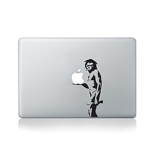 Banksy Caveman Decal For Macbook - men's accessories