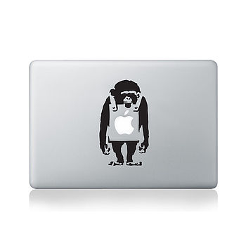 Banksy Monkey Decal For Macbook