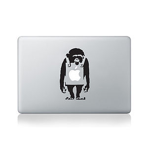 Banksy Monkey Decal For Macbook - stationery