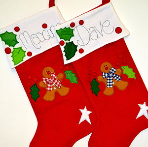 Personalised Gingerbread Man Stocking