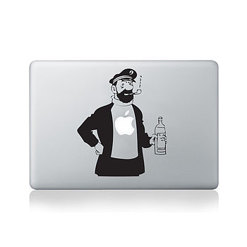 Tintin Captain Haddock Decal For Macbook