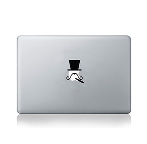 Moustache Hats Collection Decal For Macbook - bags & purses