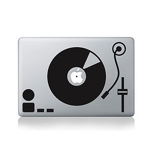 Turntable Decal For Macbook - bags & purses