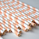 Peaches and Cream Paper Straws