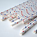 Pack Of 25 Stars Paper Straws