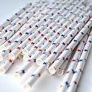 Pack Of 25 Stars Paper Straws