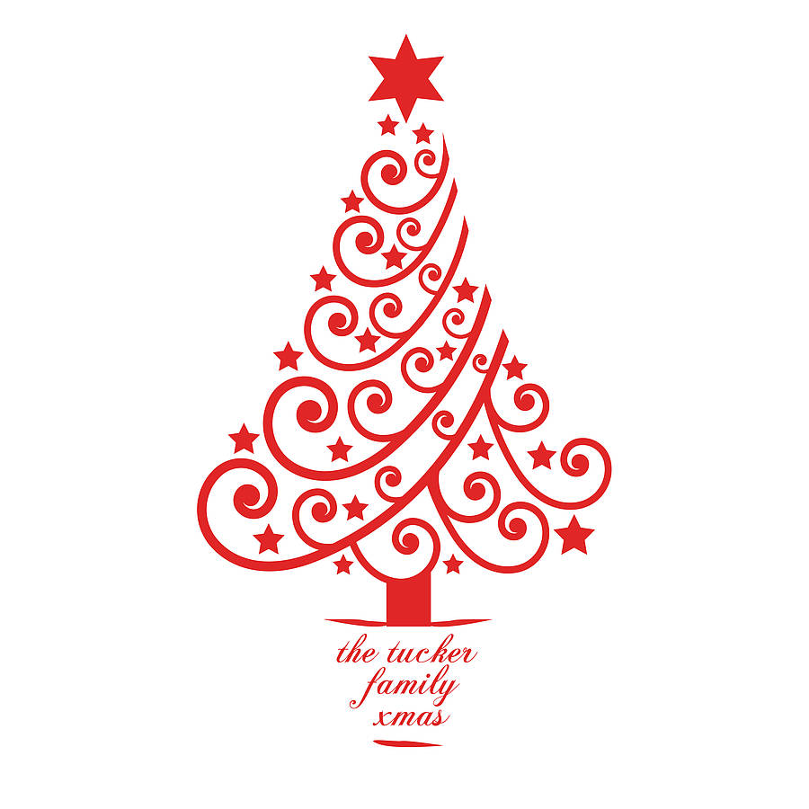 Personalised Xmas Tree Wall Sticker By Spin Collective