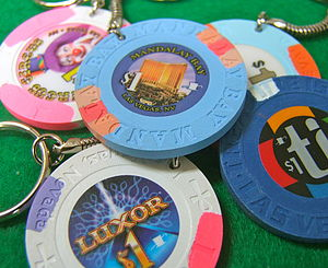 Personalised Authentic Las Vegas Casino Chip Keyring - keyrings for her