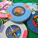 Personalised Authentic Las Vegas Casino Chip Keyring