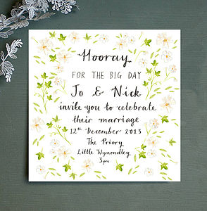 Personalised Winter Wedding Invitation