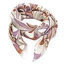 Phoenix Hand Marbled Silk Scarf
