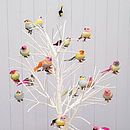 Set Of Six Feather Bird Clip On Decorations