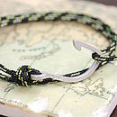 Men's Cord And Hook Name Bracelet