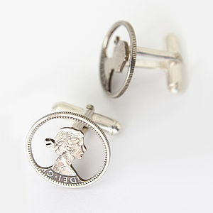 Sixpence Coin Cufflinks - men's accessories