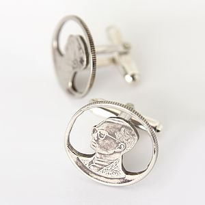 Thai Coin Cufflinks - men's accessories
