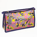 Amalfi Marbled Coated Wash Bag