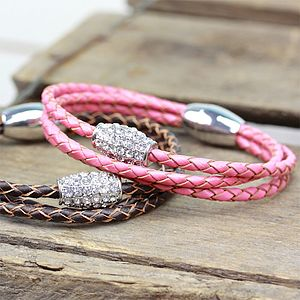 Braided Gem Bracelet - women's jewellery