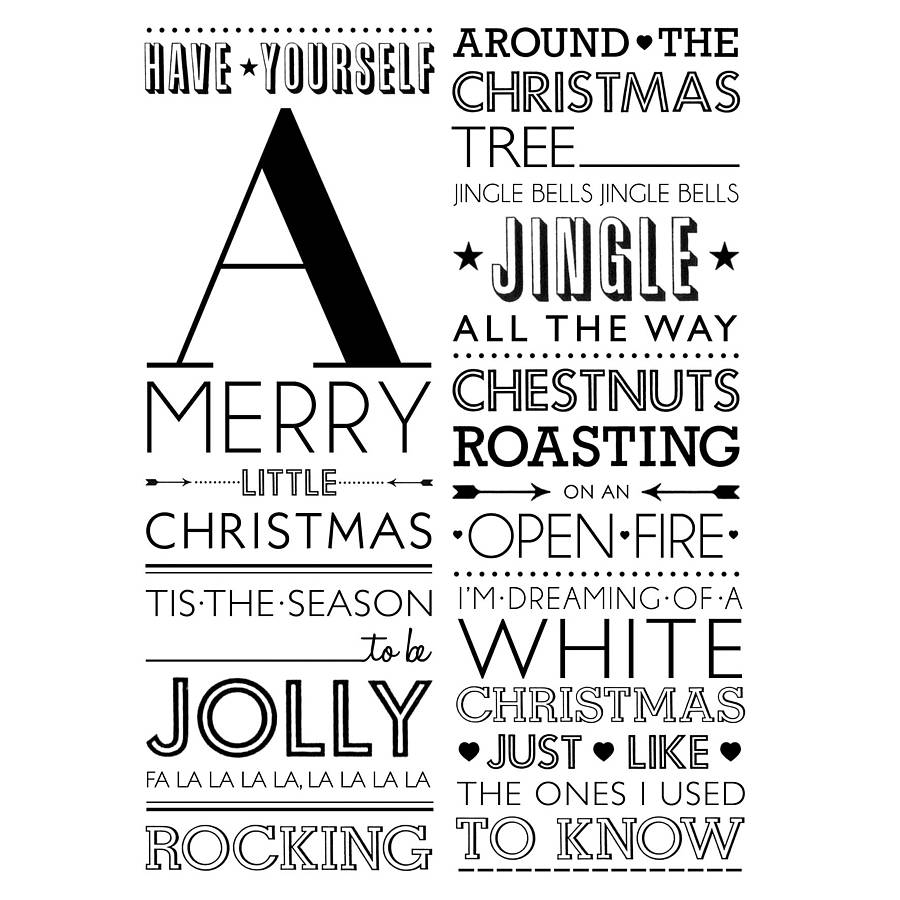 pack of five christmas songs greeting cards by ros shiers  notonth...