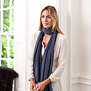 Superfine Cashmere Wrap - Monaco Blue