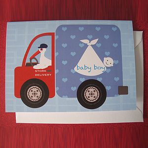 Stork Delivery - new baby cards