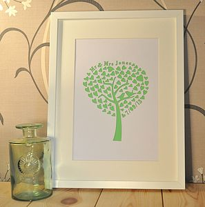 Personalised Laser Cut Wedding Tree Artwork - posters & prints