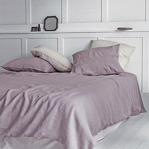 Dusty Rose Washed Linen Duvet Cover