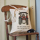 Personalised Your Dog In A Tractor Tote Bag