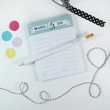'Make And Do' Notepad
