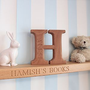 Personalised Wooden Letter Newborn Keepsake - new baby gifts