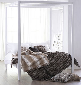 Faux Fur Bed Throw - bed, bath & table linen