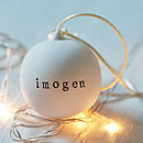 Personalised Ceramic Christmas Bauble with Name