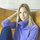 Chunky Knit Crew With Separate Roll Neck