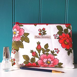 Make Up Bag Vintage Flowerpot - make-up bags