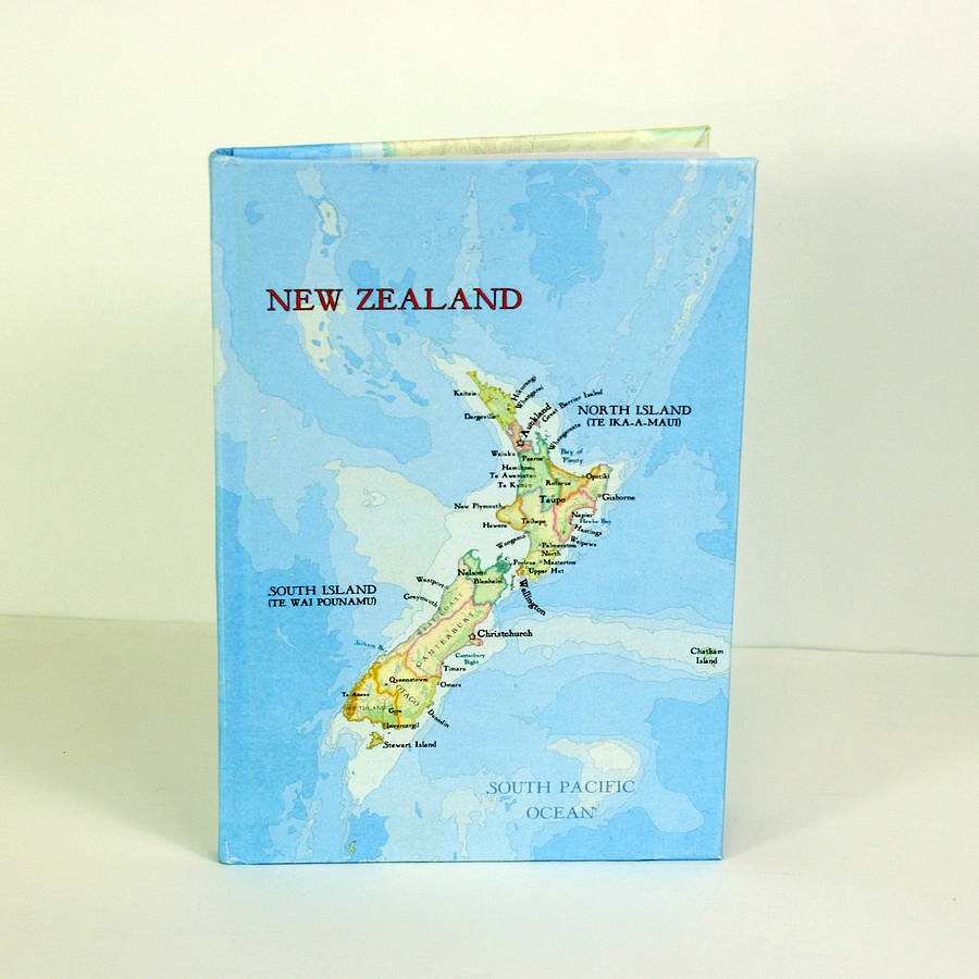 Printable Map Of South Island New Zealand.New Zealand Map Print Notebook