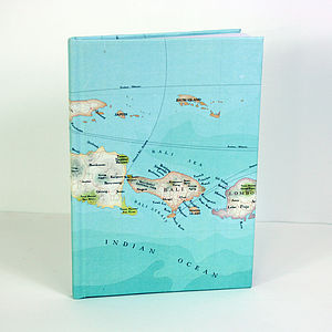 Bali Map Print Notebook - travel journals & diaries