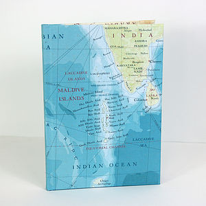 Maldives Map Print Notebook - travel journals & diaries