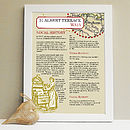 Personalised Map & House Story Print