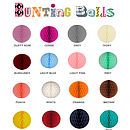 Colour chart for bunting balls