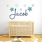 Star Name Fabric Wall Stickers - baby & child
