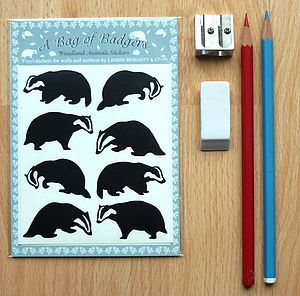 A Bag Of Badgers Wall Stickers - party bags and ideas