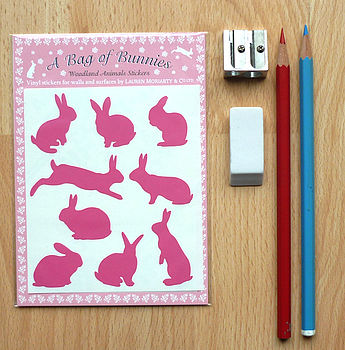 A Bag Of Bunnies Wall Stickers
