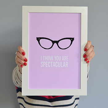 'I Think You Are Spectacular' Vintage Print