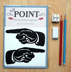To The Point Wall Stickers - decorative accessories