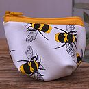 Bees And Butterflies Leather Coin Purse