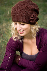 Lacy Knit Wool Hat - hats, scarves & gloves