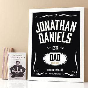 Whiskey Label Personalised Print