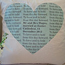 Personalised Secret Message Cushion