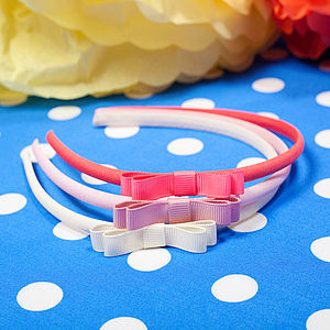 Mini Ribbon Bow Alice Band - hair accessories